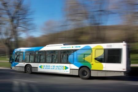 Cu autobuzul la Berri-UQAM