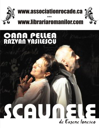 """ANULAT – """"Scaunele"""" lui Ionesco, cu Oana Pellea şi Răzvan Vasilescu"""