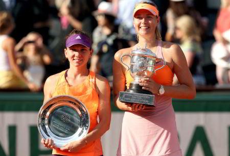Simona Halep, prima victorie cu Sharapova