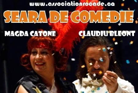 Seară de comedie cu Magda Catone şi Claudiu Bleonţ