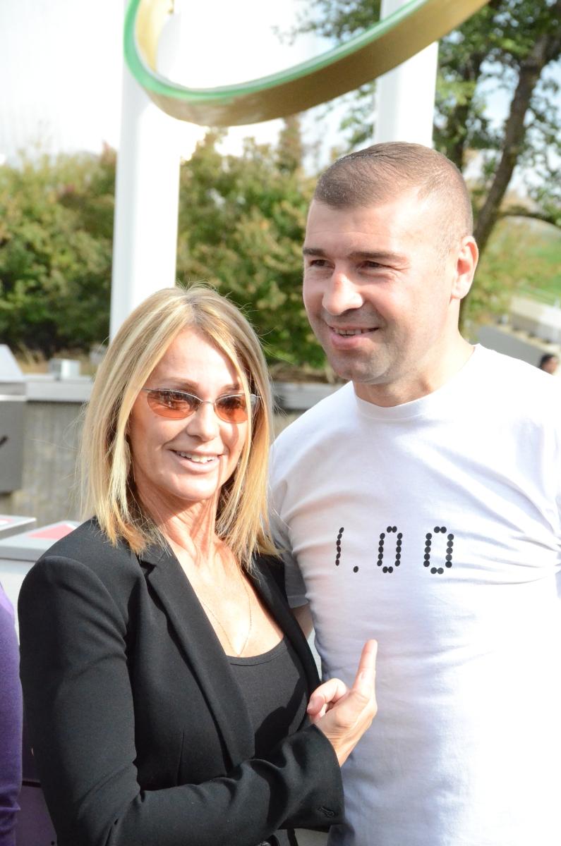 Lucian Bute și Nadia Comăneci