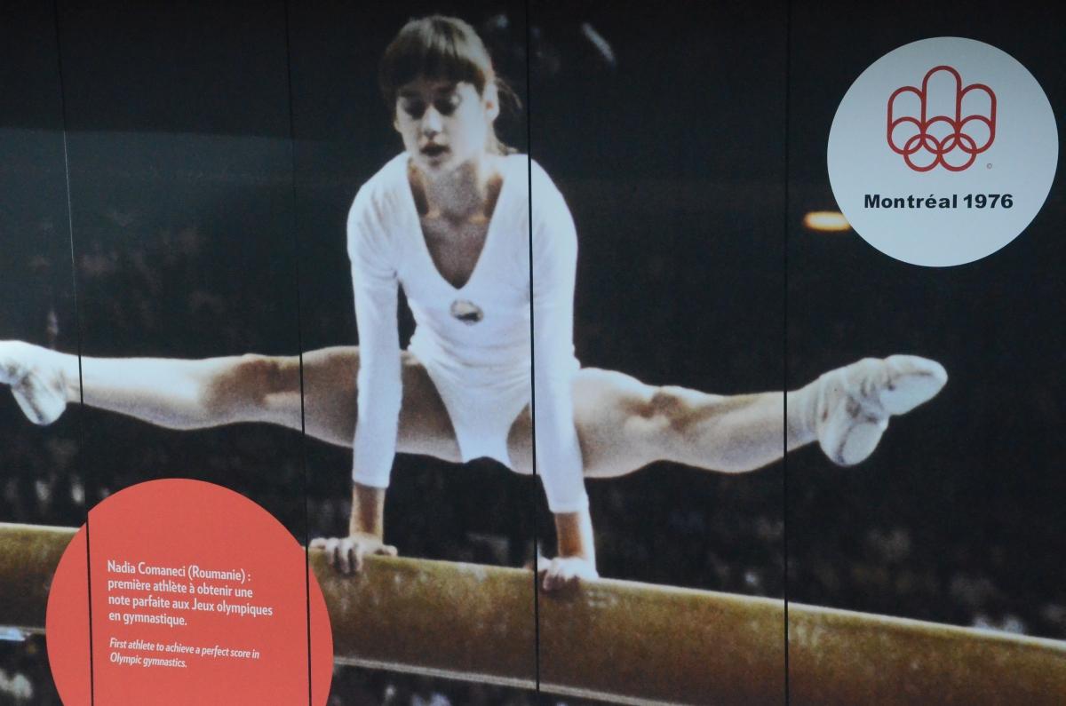 O nouă frescă cu Nadia Comăneci a apărut în Parcul Olimpic