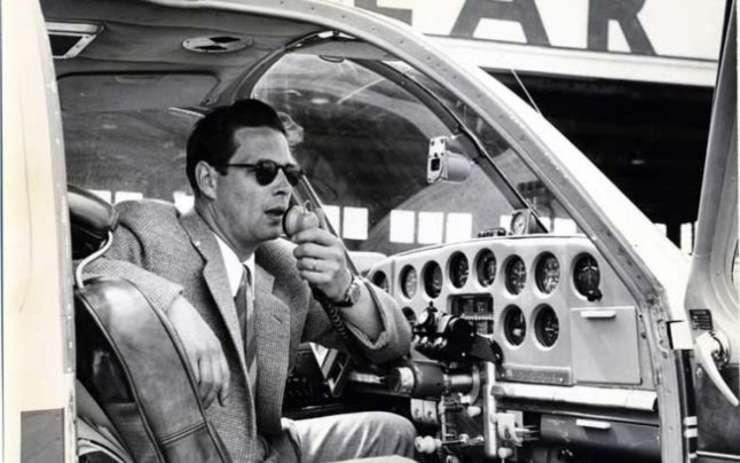 Regele Mihai, pe când era pilot de încercare în perioada exilului