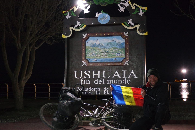 Radu Paltineanu a ajuns la Ushuaia.