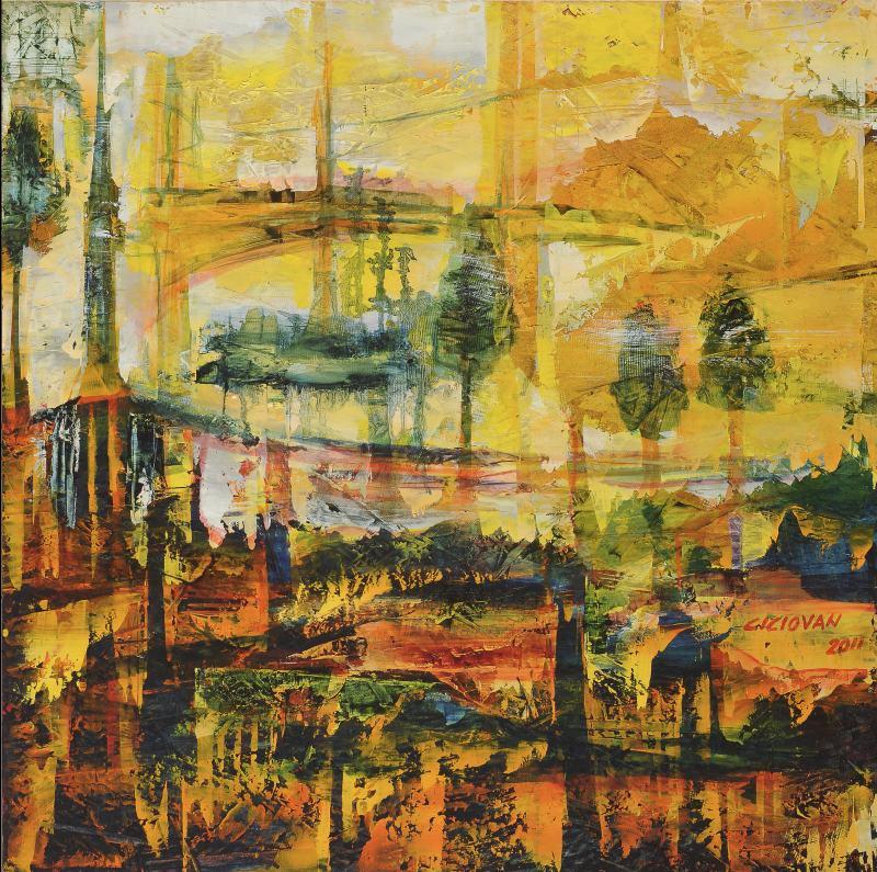 The Road Not Taken, 2011, Oil on wood panel, 61 cm x 61 cm